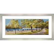 Buy Michael Sanders - Sunday Afternoon Hyde Park, Framed Print, 52 x 107cm Online at johnlewis.com