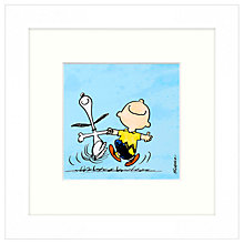 Buy Peanuts - Snoopy and Charlie Brown, Framed Print, 23 x 23cm Online at johnlewis.com