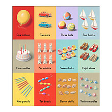 Buy Ladybird Books - Ladybird Numbers Unframed Print with Mount, 40 x 30cm Online at johnlewis.com