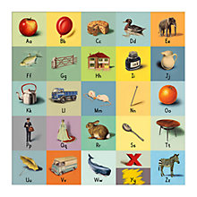 Buy Ladybird Books - Ladybird Alphabet Unframed Digital Print with Mount, 40 x 30cm Online at johnlewis.com