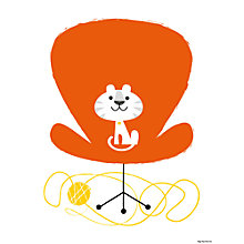 Buy Sean Sims - Happy Kitty Unframed Print, 40 x 30cm Online at johnlewis.com