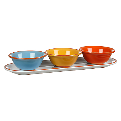 John Lewis Alfresco 3 Dip Bowls On Tray