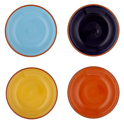 John Lewis Alfresco Tapas Plates, Plain, Set of 4
