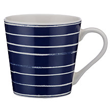 Buy John Lewis Coastal Thin Stripes Mug, Blue Online at johnlewis.com