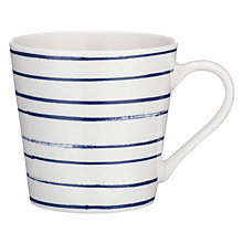 Buy John Lewis Coastal Thin Stripes Mug, White Online at johnlewis.com