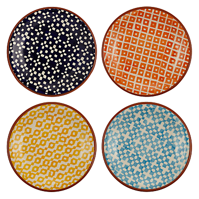 John Lewis Alfresco Tapas Plates, Patterned, Set of 4