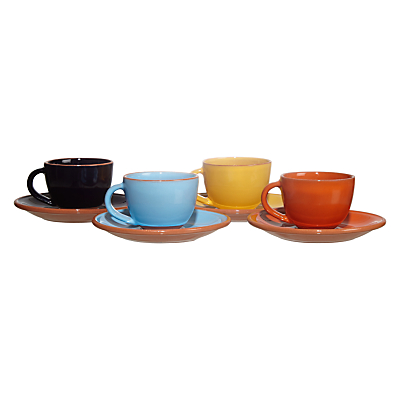 John Lewis Alfresco Espresso Cup & Saucer, Set of 4