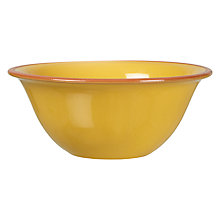 Buy John Lewis Alfresco Cereal Bowl, Yellow Online at johnlewis.com