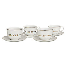 Buy John Lewis Garden Party Cup & Saucer, Set of 4 Online at johnlewis.com