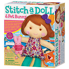 Buy Stitch A Doll & Pet Bunny Kit Online at johnlewis.com