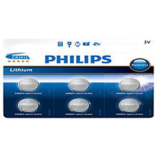 Buy Philips CR2032 Batteries, Pack Of 6 Online at johnlewis.com