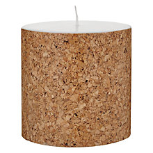 Buy House by John Lewis Cork Candle, H10 x Dia.10cm Online at johnlewis.com