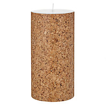 Buy House by John Lewis Cork Candle, H20 x Dia.10cm Online at johnlewis.com