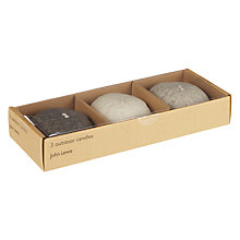 Buy John Lewis Pebble Tealights, Pack of 3 Online at johnlewis.com