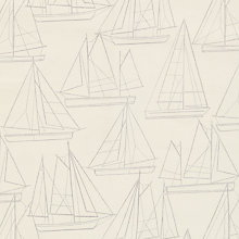 Buy John Lewis Sailing Blueprint PVC Tablecloth Fabric, Oyster Online at johnlewis.com