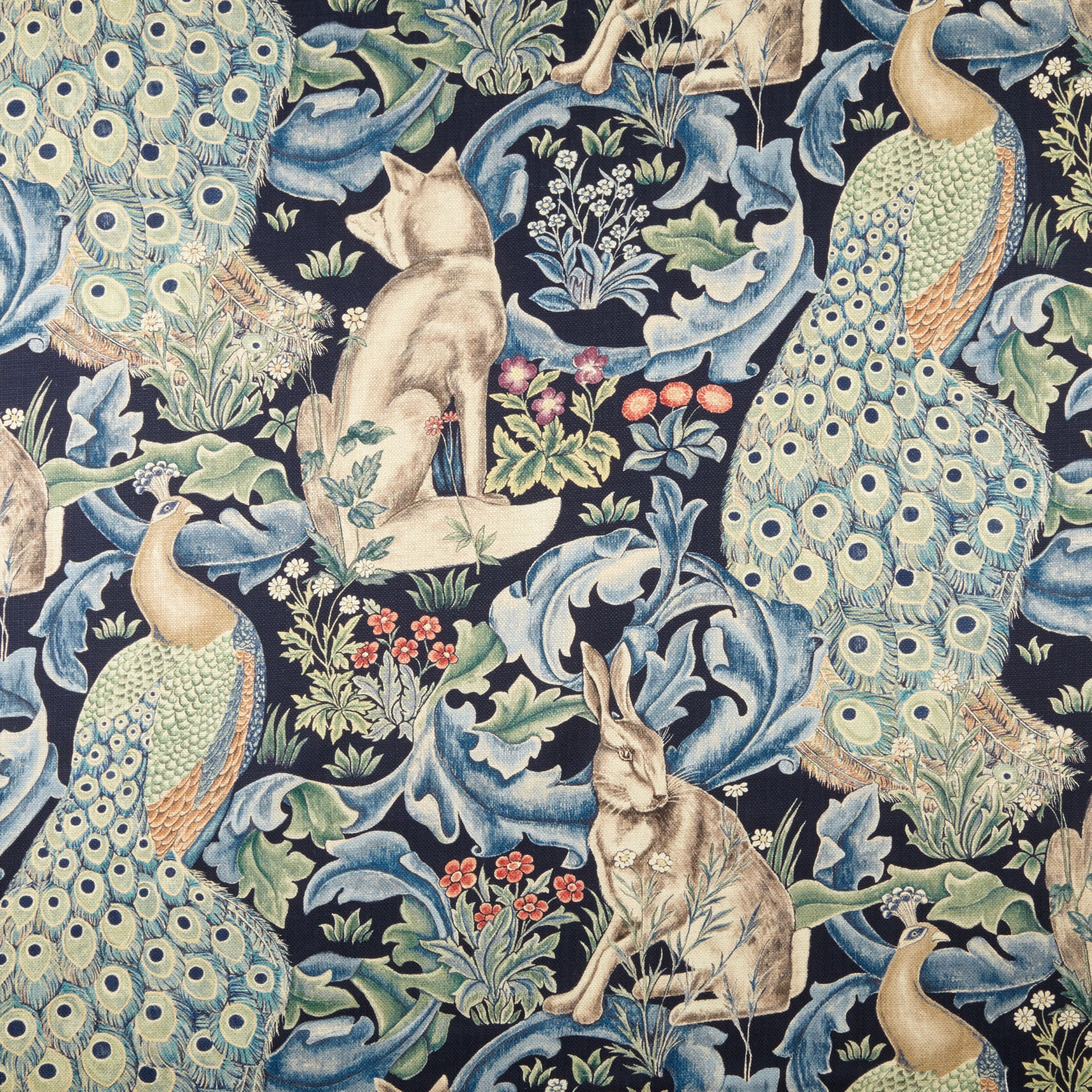Morris & Co Morris & Co Forest Furnishing Fabric, Indigo