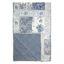Buy John Lewis Molly Bedspread, Blue Online at johnlewis.com