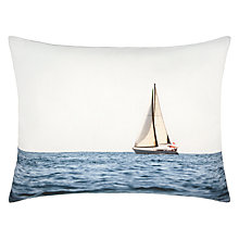 Buy John Lewis Boat Scene Cushion, Blue Online at johnlewis.com