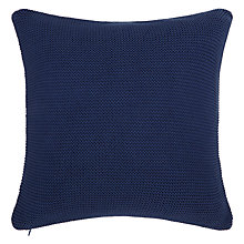 Buy John Lewis Rye Plain Knit Cushion, L40 x W40cm Online at johnlewis.com