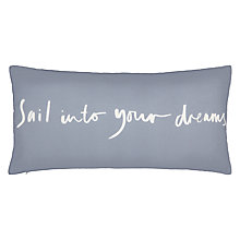 Buy John Lewis Sail Into Your Dreams Cushion, Blue Online at johnlewis.com