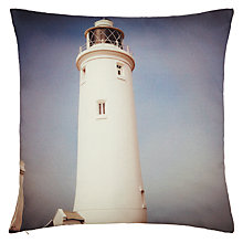 Buy John Lewis Lighthouse Cushion, Blue Online at johnlewis.com