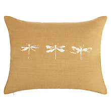 Buy John Lewis Croft Collection Dragonfly Cushion, Honey Online at johnlewis.com