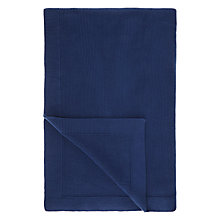 Buy John Lewis Rye Plain Knit Throw, L200 x W150cm Online at johnlewis.com