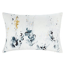 Buy John Lewis Croft Collection Alba Print Cushion, Natural Online at johnlewis.com