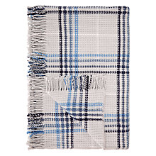 Buy John Lewis Waffle Check Throw, Grey/Blue Online at johnlewis.com