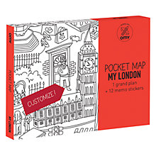 Buy OMY London Pocket Map and Stickers Online at johnlewis.com