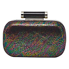 Buy French Connection Isabelle Box Clutch, Iridescent Snake Online at johnlewis.com