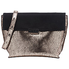 Buy French Connection Riri Envelope Clutch Bag, Black/Gold Crackle Online at johnlewis.com