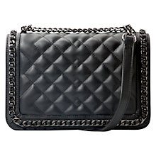 Buy Mango Black Quilted Panel Bag, Black Online at johnlewis.com