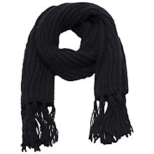 Buy French Connection Giant Knit Mila Scarf, Black Online at johnlewis.com