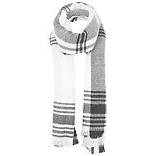 Buy Miss Selfridge Large Check Scarf, White Online at johnlewis.com