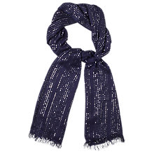 Buy Phase Eight Alexis Sequin Scarf, Navy Online at johnlewis.com