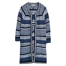 Buy Mango Striped Flecked Cardigan, Navy Online at johnlewis.com