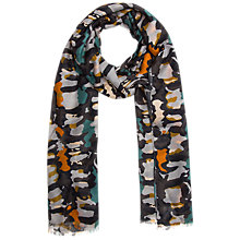 Buy Gerard Darel Beguin Camouflage Print Scarf, Multi Online at johnlewis.com