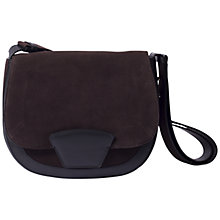Buy Gerard Darel Clayton 70s Leather Shoulder Bag, Black Online at johnlewis.com