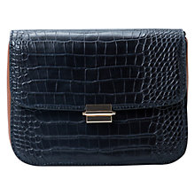 Buy Mango Croc-Effect Bag, Navy Online at johnlewis.com