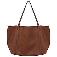 Buy Miss Selfridge Shopper Bag, Tan Online at johnlewis.com