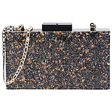 Buy French Connection Glitter Ezra Resin Clutch Bag, Black/Gold Glitter Online at johnlewis.com