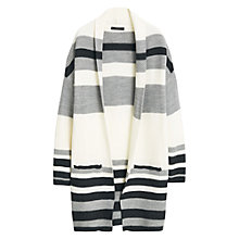 Buy Mango Striped Cardigan, Light Beige Online at johnlewis.com