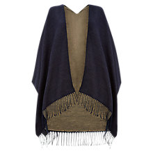 Buy Hobbs Black Alison Blanket Wrap Cardigan Online at johnlewis.com