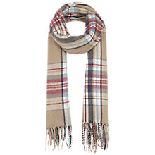 Buy Miss Selfridge Check Fringed Scarf Online at johnlewis.com