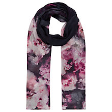Buy Kaliko Peony Print Scarf, Pink/Multi Online at johnlewis.com