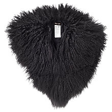 Buy Phase Eight Hatty Mongolian Fur Collar, Charcoal Online at johnlewis.com