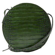 Buy Mango Croc-Effect Shoulder Bag, Green Online at johnlewis.com