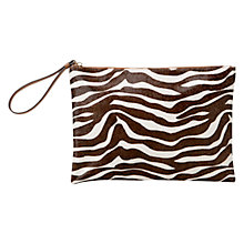 Buy Mango Mixed Clutch Bag, Medium Brown Online at johnlewis.com