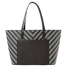 Buy Mango Medium Green Striped Shopper Online at johnlewis.com
